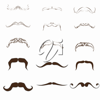 Royalty Free Clipart Image of a Set of Mustaches