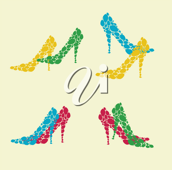 Royalty Free Clipart Image of High Heels