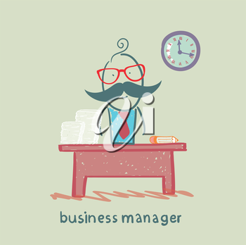 business manager at his workplace