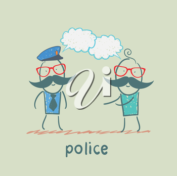 Police listen to people
