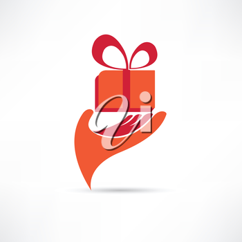 gift in red box icon