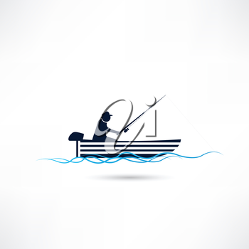 fisherman on vacation icon