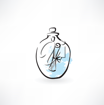 message in a carafe grunge icon