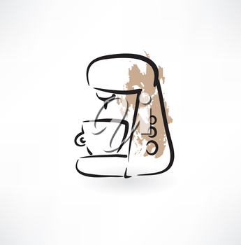 coffee maker grunge icon