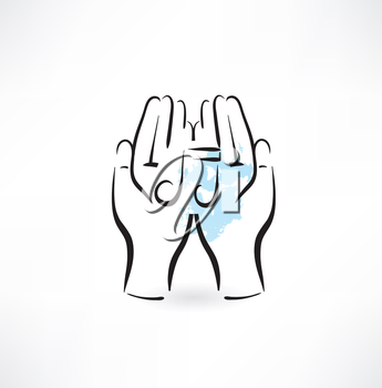 Hands music icon