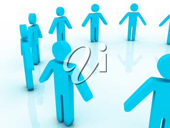 Royalty Free Clipart Image of Figures in a Circle
