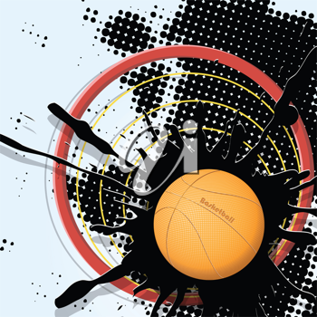 Royalty Free Clipart Image of an Abstract Basketball Background