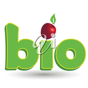 Royalty Free Clipart Image of the Word Bio