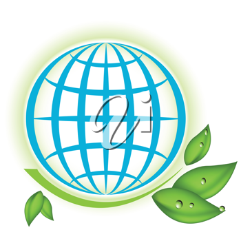 Royalty Free Clipart Image of a Globe
