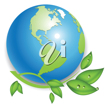 Royalty Free Clipart Image of a World Icon