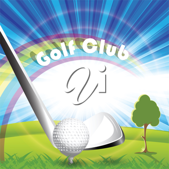 Royalty Free Clipart Image of a Golf Club