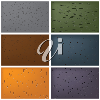 Royalty Free Clipart Image of Stone Textures