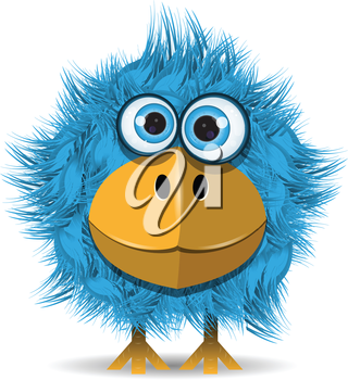 Royalty Free Clipart Image of a Funny Bird