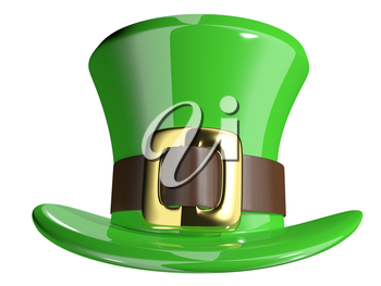 3d illustration St. Patrick's hat on a white background
