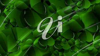 3D Illustration Abstract St. Patrick's Day Background with Glare