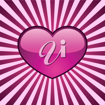 Royalty Free Clipart Image of a Pink Heart Background