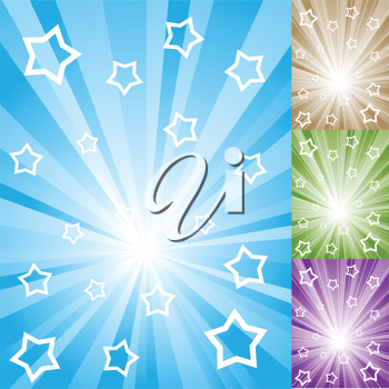 Royalty Free Clipart Image of Abstract Starry Backgrounds