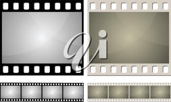 Royalty Free Clipart Image of Camera Film