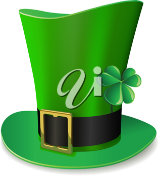 Royalty Free Clipart Image of a Saint Patrick's Day Hat