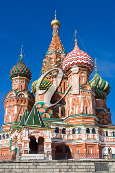 Royalty Free Photo of St Basil's Cathedral on Red Square in Moscow Russia
