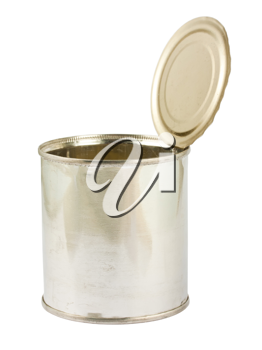 Royalty Free Photo of an Opened Tin Can