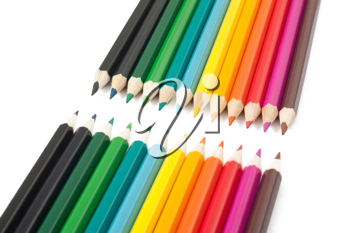 Royalty Free Photo of a Collection of Multi-Colored Pencils