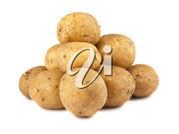 Royalty Free Photo of a Bunch of Ripe Potatoes