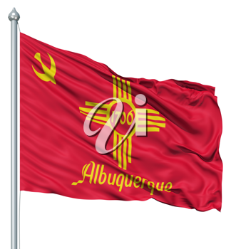Royalty Free Clipart Image of the Albuquerque Flag