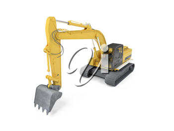 Royalty Free Clipart Image of an Excavator