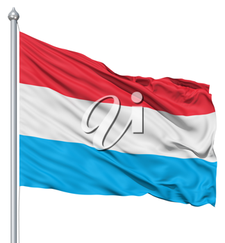Royalty Free Clipart Image of the Flag of Luxembourg