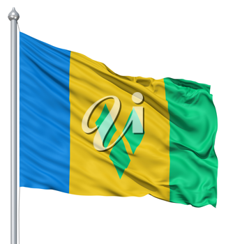 Royalty Free Clipart Image of the Flag of Saint Vincent and the Grenadines