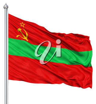 Royalty Free Clipart Image of the Tria State Flag