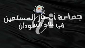 Ansaru Flag Closeup View, 3D Rendering