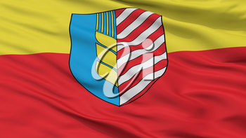 Soligorsk City Flag, Country Belarus, Closeup View, 3D Rendering