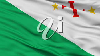 Sara Province City Flag, Country Bolivia, Closeup View, 3D Rendering
