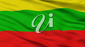 Ibague City Flag, Country Colombia, Closeup View, 3D Rendering