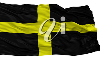 Saint David City Flag, Country Uk, Isolated On White Background, 3D Rendering