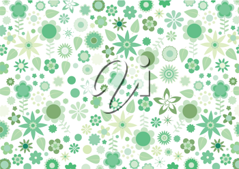 Royalty Free Clipart Image of an Abstract Floral Background