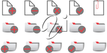 Royalty Free Clipart Image of Database Icons