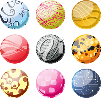 Royalty Free Clipart Image of Decorative Circles