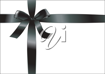 Royalty Free Clipart Image of a Black Bow