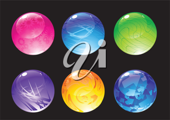 Royalty Free Clipart Image of Colourful Balls