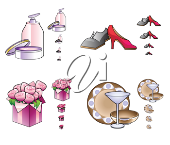 Royalty Free Clipart Image of Female Accessories