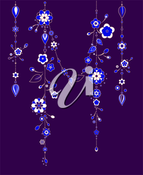 Royalty Free Clipart Image of Wind Chimes
