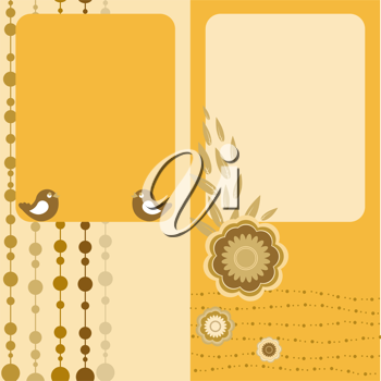 Royalty Free Clipart Image of Two Nature Greeting Cards