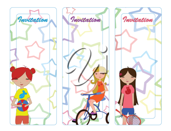 Royalty Free Clipart Image of Cute Invitations