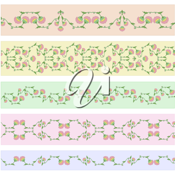 Royalty Free Clipart Image of Floral Borders