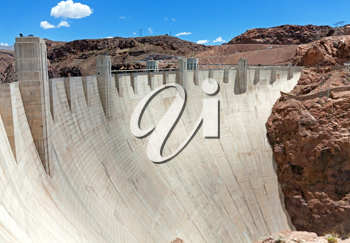 Royalty Free Photo of the Hoover Dam on the Border of Arizona and Nevada