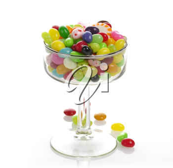 Royalty Free Photo of an Assortment Of Jelly Beans in a Glass