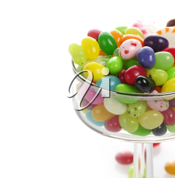 Assortment Of Jelly Beans In A Glass